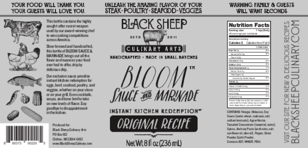Bloom Sauce and Marinade Original Recipe