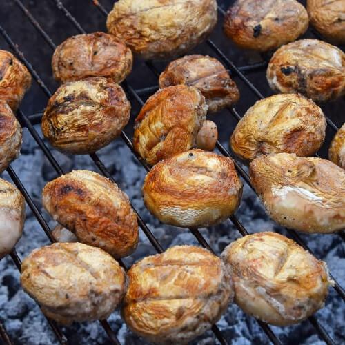 Grilled Portobello Mushroom Stakes